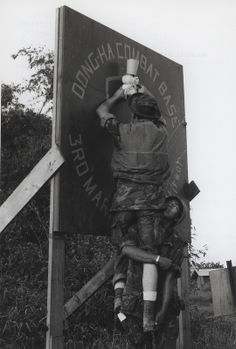 Marines Decorate for Christmas, Dong Ha, Vietnam, 1968.