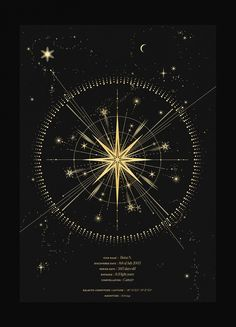 Constellations Discover Name a Star Star in the night sky personalised art print in gold foil and black paper with stars and moon by Cocorrina Constellation Tattoos, Can Lights, Star Art, Bright Stars, Moon Art, Stars And Moon, Sky With Stars, Compass Tattoo, Sacred Geometry