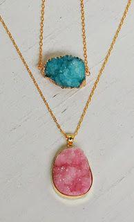 Haz linda joyería con piedras de sal hecha de forma casera ~ Manoslindas.com