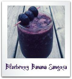 Primal/Paleo Low Carb Wine Smoothie Recipe: Blueberry Banana Sangria