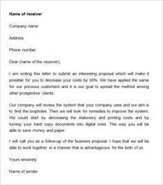 sample proposal letters