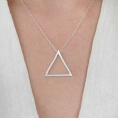 Geometric Triangle Necklace - Eco Friendly Sterling silver