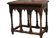 Antique Carved Library Table One Kings Lane
