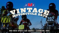 This is just a mere taste of what AMA Vintage Motorcycle Days is like at Mid-Ohio Sports Car Course in Lexington, Ohio. Packed into three days is a massive motorcycle swap meet, camping, demo rides and vintage racing including motocross, roadracing, trials, flat track and hare scrambles. Thousands of motorcyclists and vintage motorcycles fill acres and acres of land at this annual gathering; it's like being in a moto time warp!  Created for American Motorcyclist Association: ...