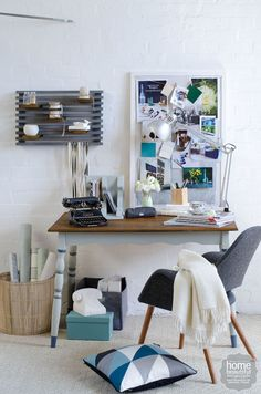 Try these three inspiring ways to personalise a home office.
