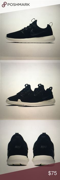 Nike Roshe Two Brand new still in box. Women's sizing. Black with dark grey