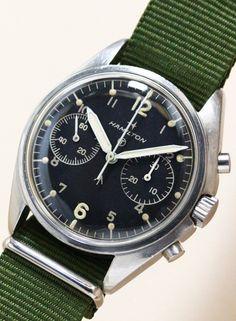 Minute Recorder Chronograph Royal Air Force Cal.7733 1970'S