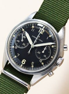 Minute Recorder Chronograph Royal Air Force Cal.7733 1970'S #vintagewatch #vintagechronograph #antiquewatch #militarywatch #hamilton #vintagehamilton