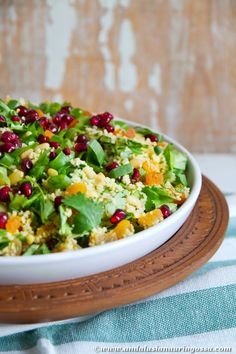 Fruity couscous salad - perfect with lamb... or even for Christmas table!