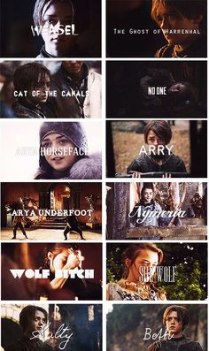 All her names