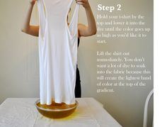 DIY ombre shirt - Between He and She