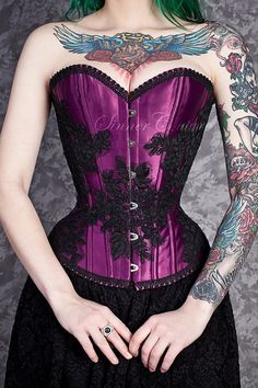 Plum Elegance custom made tightlacing overbust by SinnerCouture, $300.00