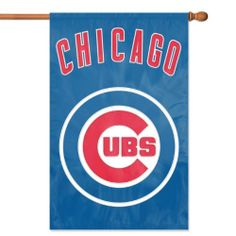 """Cubs banner flag- great for curtains (44"""" x 28"""")"""