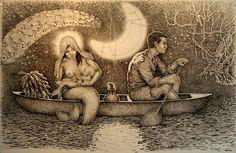 Post: Gino Ceccarelli y el Arte Amazónico Contemporary Art, Mona Lisa, Gallery, Artwork, Painting, Pintura, Iquitos, Fine Art, Amazons