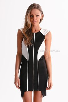 x marks the spot cocktail dress - black/white