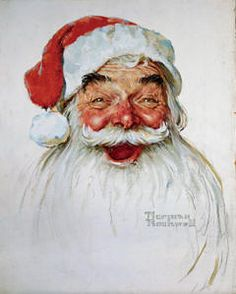 The perfect Santa image by Norman Rockwell @Sara Rowbotham , just in am case you didn't get enough if me yet ;)