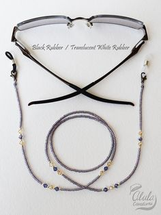 Swarovski gafas cadena collar de soporte de la por AlulaCreations Beaded Jewelry, Beaded Bracelets, Necklaces, Beaded Necklace, Swarovski, Eyeglass Holder, Leather Chain, Eyeglasses, Jewelry Design