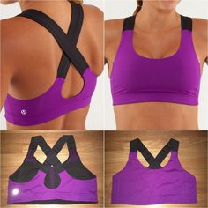 Lululemon All Sport Bra, tender violet/black, sz 10
