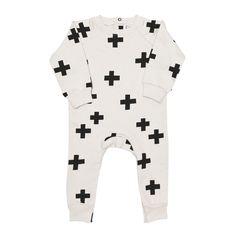 Beau Loves grey Crosses Romper carrymehome.co.uk Little Boy Fashion c0014eb464bb