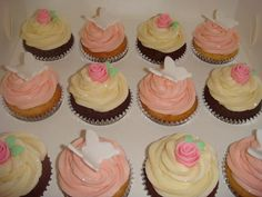 Christening cupcakes for a baby girl