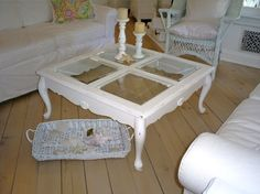 Coffee table    shabby chic white  vintage by backporchco on Etsy, $225.00 working on one these now for myself..