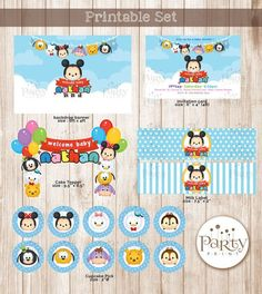 Disney Set imprimible de Tsum Tsum niño copia por Partyprintkk