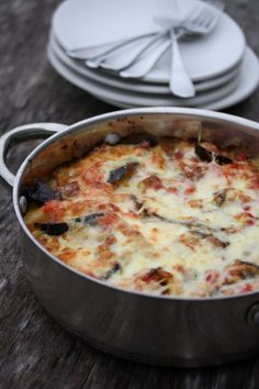 Eggplant and Zucchini Lasagna. A great one pan meal!