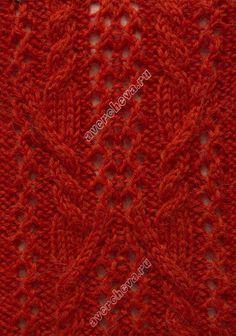 Knit stitch pattern Cable lace chart #knit #knitstitch #cableknit #knitcable #cablestitch #cables