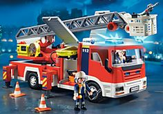 Firetruck (remote control!) City Action PLAYMOBIL® USA