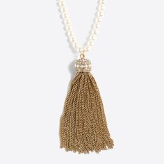 J.Crew - Tassel pearl pendant necklace