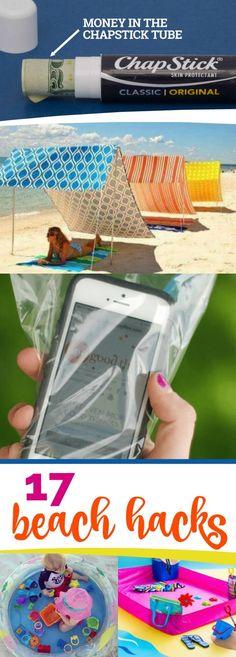 17 Beach Hacks via @spaceshipslb