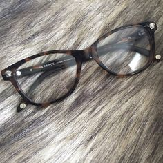 ff028aa4fef161 Versace frames Versace tortoise frames. Clear, Non prescription lenses  (lenses have scratches,