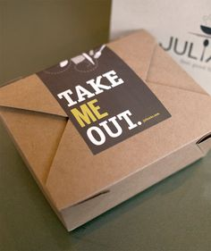 Pretend this is an oversized envelope, rather than a take-out container. The fat wrap-around label could seal the flap.