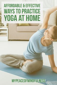 Are you a yoga beginner who's struggling to find the time? Check out our top affordable and effective ways to start practising Yoga at home today! Yoga can help with weightloss, stress, fitness and so much more.