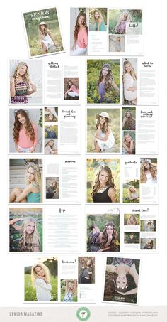 Senior Magazine, Client Guide, Welcome Guide, Photography, Advertising - Template - Photography Templates, Photography Pricing, Photography Packaging, Advertising Photography, Senior Photography, Photography Business, Photography Flyer, Senior Ads, Senior Year