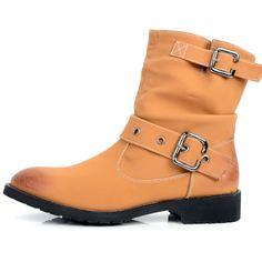 Men Adobe Leather Retro Vintage Gothic Fashion Chelsea Boots SKU-1280467