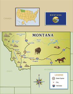 Montana Counties Map Montana County Selection Map Montana Made - Montana county map