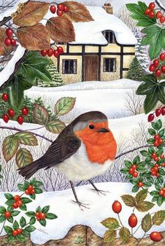 Christmas Visitors I by Anne Mortimer.