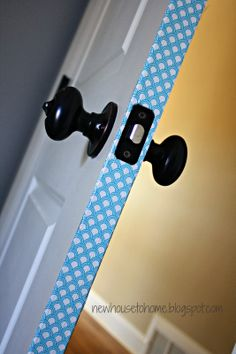 New House to Home: Using Duct Tape to Jazz Up a Boring Door