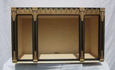 "Art Deco Dollhouse miniature roombox - 1:12 scale - Goliath Miniatures LLC - 24"" #GoliathMiniatures"