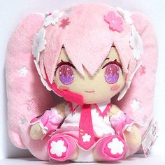 Vocaloid-Sakura-HATSUNE-MIKU-Plush-Doll-LTD-17cm-6-5-JAPAN-Authentic
