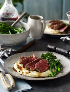 Three-pepper steaks with pommes mousseline  - Sainsbury's Magazine