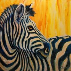 Paintings by Theresa Paden: Contemporary African Wildlife Art, Original Zebra Painting by Theresa Paden