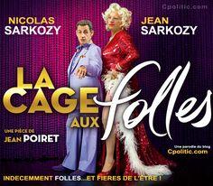 Nicolas Sarkozy et Jean Sarkozy dans La Cage aux Folles