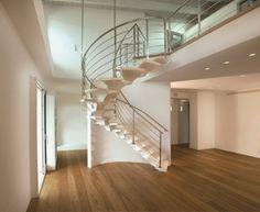 Scala circolare / con gradini in legno / aperta / di design originale CONCORDE Marretti