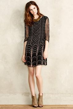 PROs: Shape is flattering on me, and when long enough this shape can work for work. Imogen Silk Dress #anthropologie