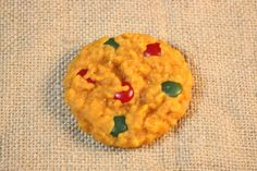 Chocolate Candy Coated Christmas Cookie by CountryRichCreations