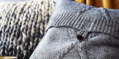Follow these simple instructions to turn an old jumper – or inexpensive charity shop purchase – into a cushion cover, as seen in the February 2015 issue of Country Living magazine.