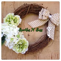 A personal favorite from my Etsy shop https://www.etsy.com/listing/234647555/key-to-the-garden-wreath