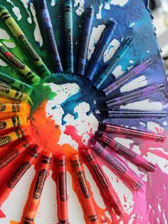 DIY: crayon art